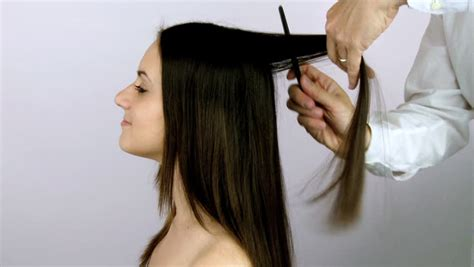 how to professionally cut hair model with hair getting a haircut