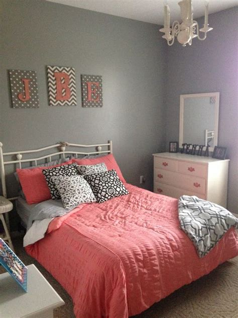 coral paint bedroom gray and coral bedroom home pinterest big girl