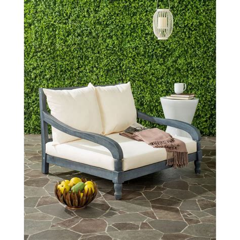 Safavieh Outdoor by Safavieh Pomona Ash Grey Outdoor Patio Lounge Chair With
