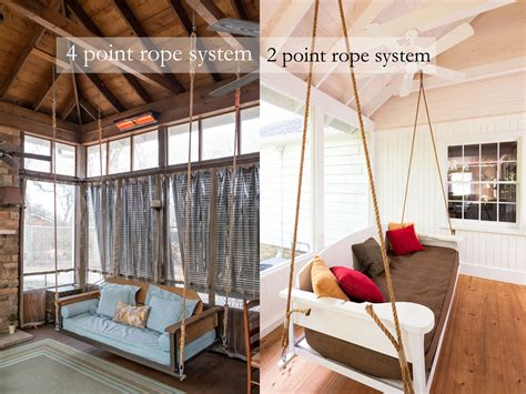 swing bed hanging rope  porch companythe porch company
