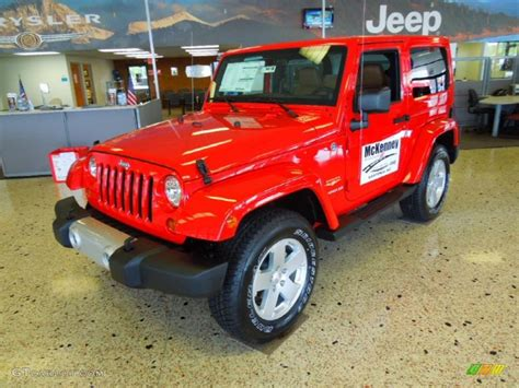 flame red jeep 2012 flame red jeep wrangler sahara 4x4 73233689 photo 2