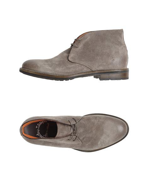 santoni hightop dress shoe in gray for grey lyst
