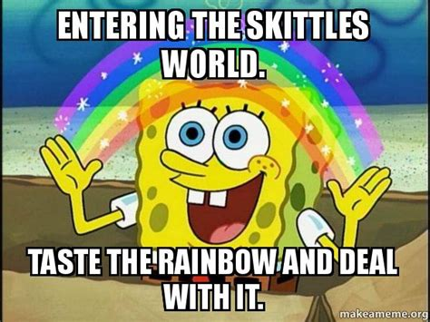 Taste The Rainbow Meme - rainbow spongbob meme