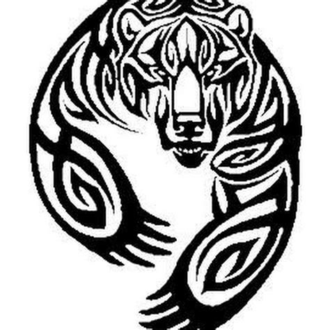tribal grizzly bear tattoos design tribal