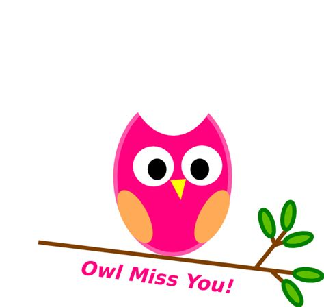 miss you clip owl miss you clip at clker vector clip