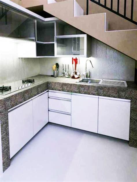 desain dapur minimalis  bawah tangga sederhana kreasi
