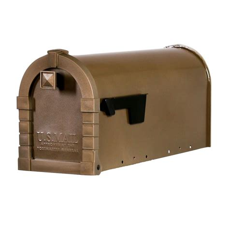 gibraltar mailboxes dennison decorative desert gray steel