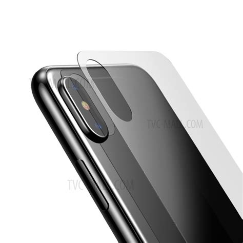 Baseus 3d Tempered Glass Front Back Iphone X Ten baseus for iphone x 10 5 8 inch hd front back tempered glass protector transparent tvc