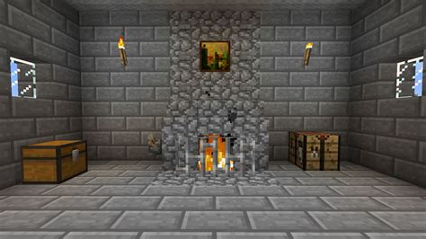 How To Build A Fireplace Minecraft by Fireplace With On Lever Using The New Charge