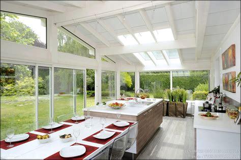 Maison D Architecte En Bois 2433 by Davaus Net Modele Cuisine Dans Veranda Avec Des Id 233 Es