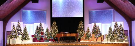 christmas display church stage design ideas