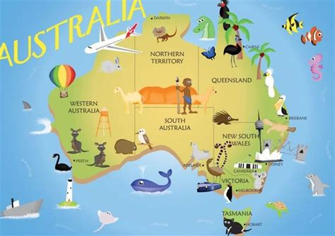 simple map of australia map of australia scout world thinking day