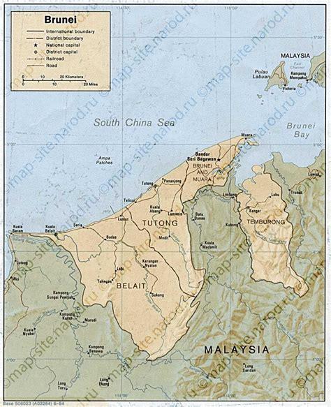 brunei map maps of brunei darussalam