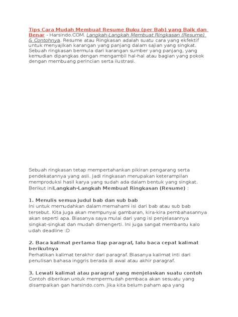 cara membuat resume buku dan contohnya resume itu apa resume ideas namanasa com