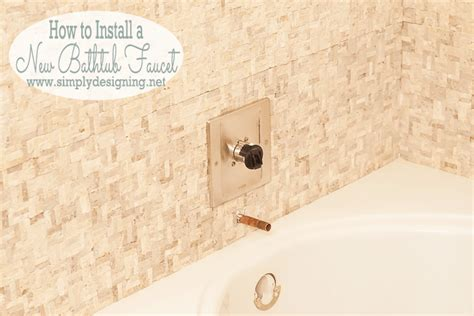 bathtub faucet installation master bathroom remodel part 10 how to install a bathtub faucet