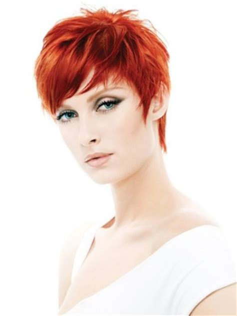 pixie 2013 hairstyles google search sassy hair pinterest red short pixie haircut with side swept bangs short