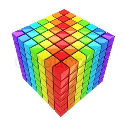 Rubik Rainbow Cube Merk Yongjun rainbow colored cube isolated white background spectrum stock photo colourbox