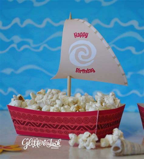moana boat snack moana polynesian boat food snack trays and by