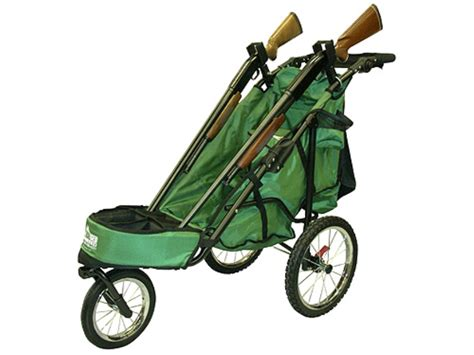 rugged gear cart rugged gear standard two gun shooting cart swivel front wheel green