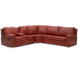 Leather Reclining Sectional Sofa Palliser Brunswick Leather Reclining Sectional