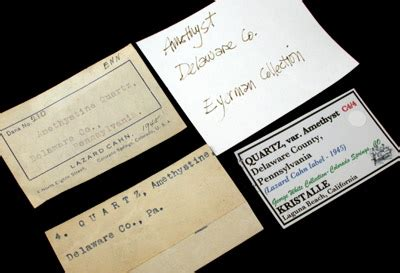 Mineral Specimen Label Template Labeling And Cataloguing Your Mineral Collection