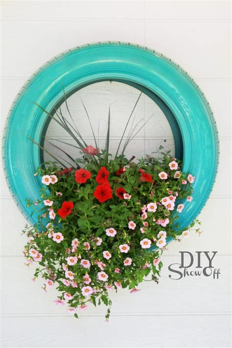 How To Paint Tires For Planters by Diy Tire Planter Tutorialdiy Show Diy Decorating And Home Improvement