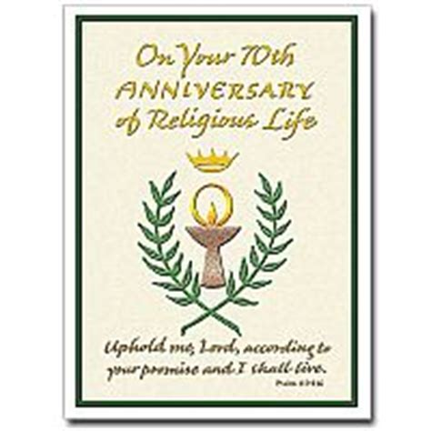 On Your 70th Anniversary of Religious Life: Religious