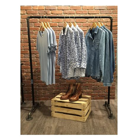 clothing rack industrial garment racks vintage style clothes