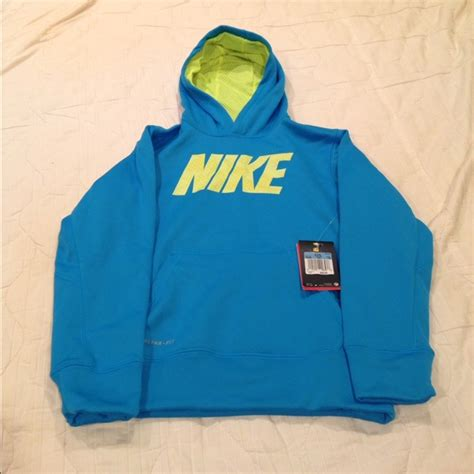 Hoodie Sweater Nike Original Size M Thermafit 38 nike sweaters hoodie nike blue yellow boy size