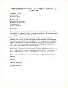 Cover Letter Sles For Posting by How To Write A Cover Letter For A Posting Cover Letter Exle