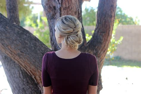 Topsy Hairstyles by Diy Topsy Bun Updo Hairstyles
