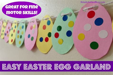 easy easter craft for easter crafts for make a garland motor skills