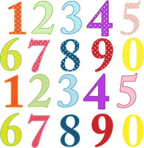 large printable numbers in color ilustra 231 227 o de n 250 meros coloridos vectores de dom 237 nio p 250 blico