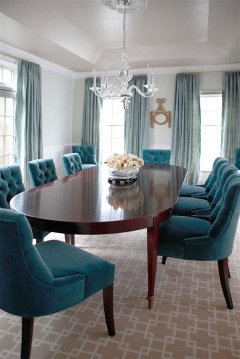 teal dining room chairs textile spotlight velvet centsational