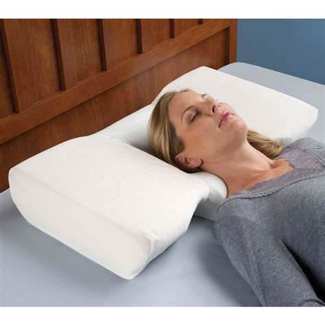 A Pillow For Neck by The Neck Relieving Pillow Hammacher Schlemmer