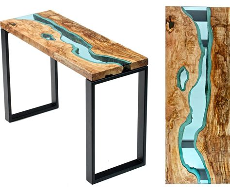 how to make a river table table topography wood furniture embedded with glass