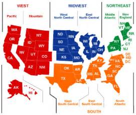 us map and regions map of united states regions for