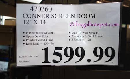 costco screen room costco sunjoy screen room 12 x 14 1 599 99 frugal hotspot