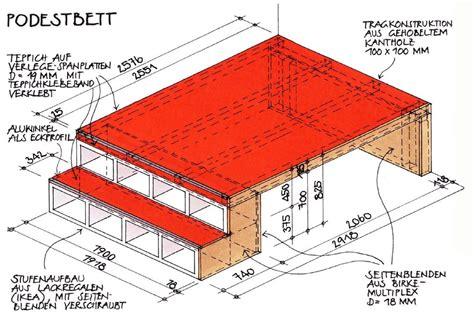 podestbett selber bauen m 246 bel selber bauen