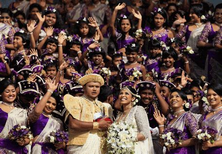 World Record For Most Marriages Breaks World Record With Whopping 126 Bridesmaids In Sri Lankan Wedding Nigeria News