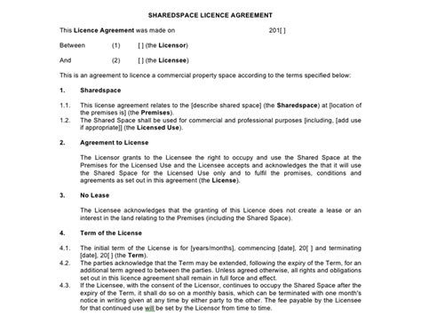 office space lease agreement template shared contract templates