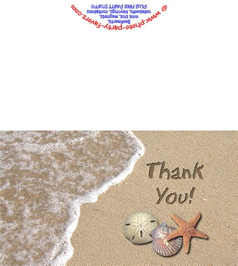 Printable Beach Postcards   beach thank you card free printable thank you cards