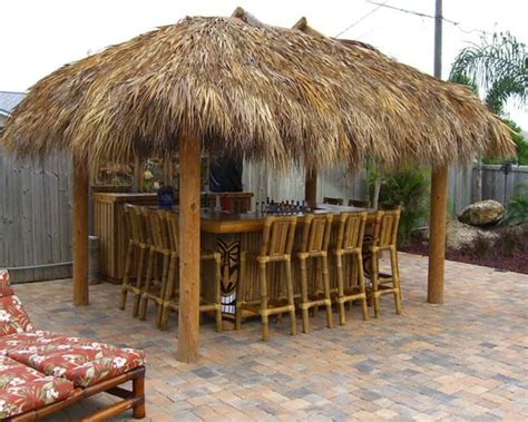 Outdoor Tiki Hut Bar Tropical Outdoor Tiki Hut Gallery Backyard Tiki Hut