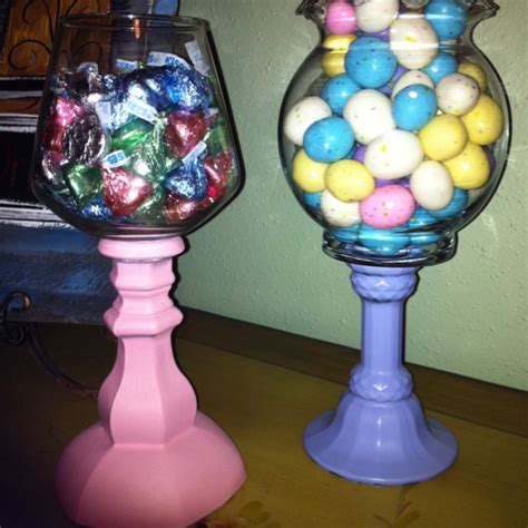 Glass Vases Dollar Tree by Spray Painted Glass Candle Holders With Dollar Tree Vases