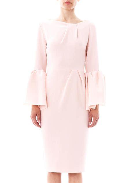 Margo Dress Pink lyst roksanda margot wool crepe dress in pink