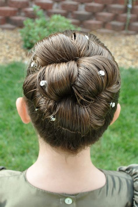 hairstyles for rolling princess piggies barrel roll bun