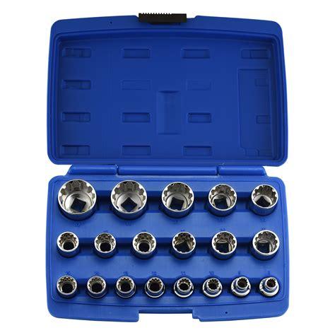 Blue Point 14 38 12 Drive Torx Bit Socket Set Blptssc43 19pc octa metric socket 1 2 quot inch drive 6 8 12 point muliti fit tool set ebay