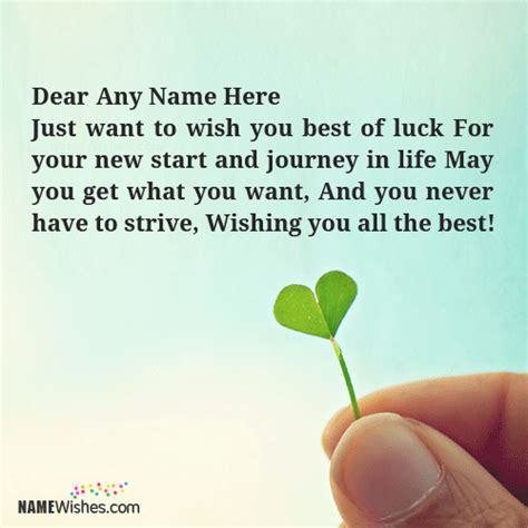 best of luck for the new journey