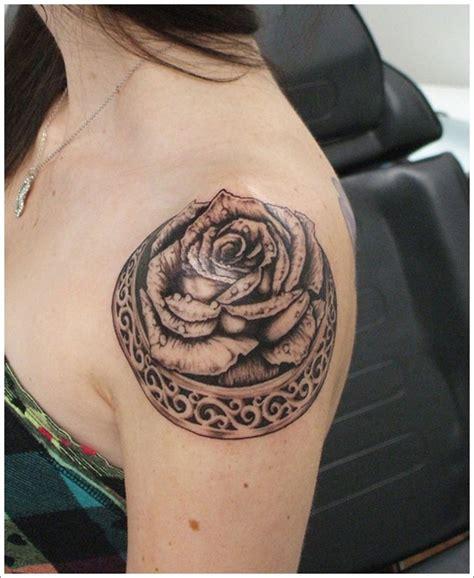 rose tattoo on shoulder meaning shoulder black rose tattoo design of tattoosdesign of