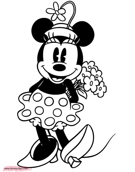 classic minnie mouse coloring pages valentine s day printable coloring pages 2 disney